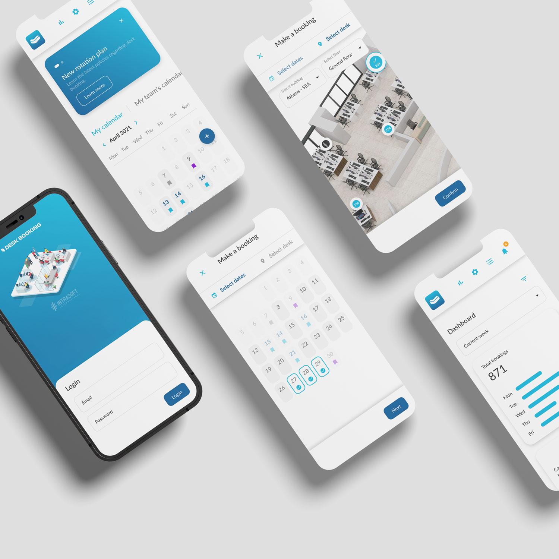Desk booking - Mobile
