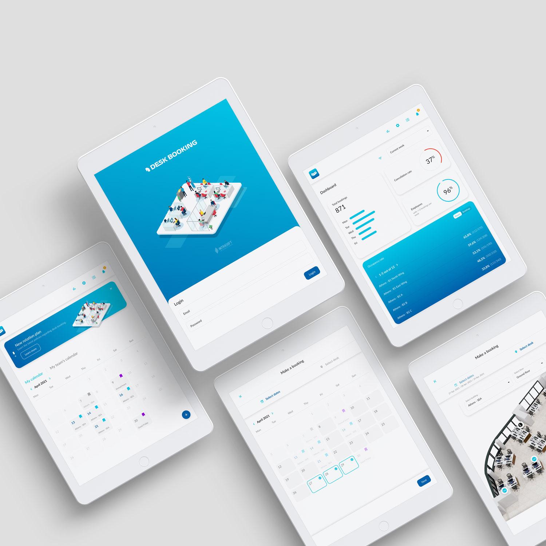 Desk booking - Tablet